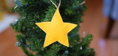 How to make a Stuffed Felt Star Ornament