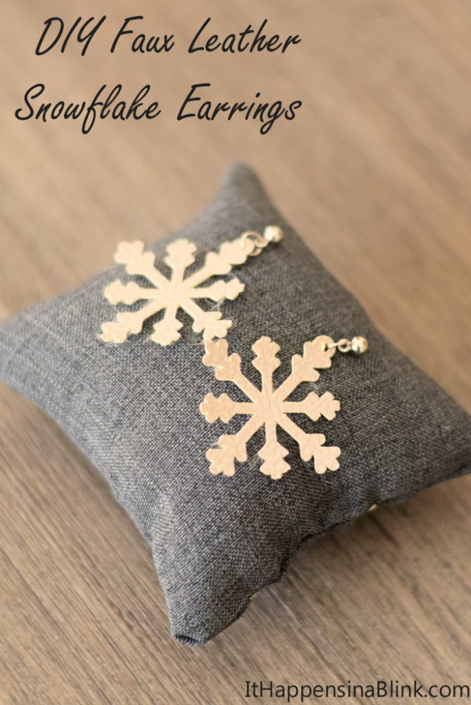 DIY Faux Leather Snowflake Earrings with the Cricut