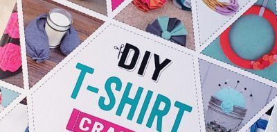 Crafty Book Review: DIY T-shirt Crafts. Make upcycled crafts with t-shirts!