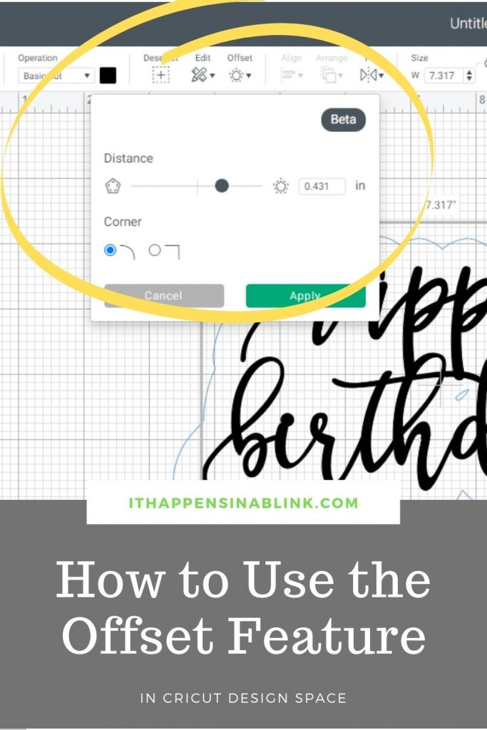 How to Use the Offset Feature in Cricut Design Space