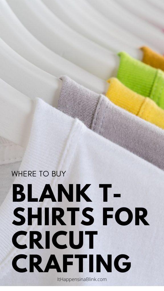 Where to Buy Blank T-Shirts for Cricut Crafting