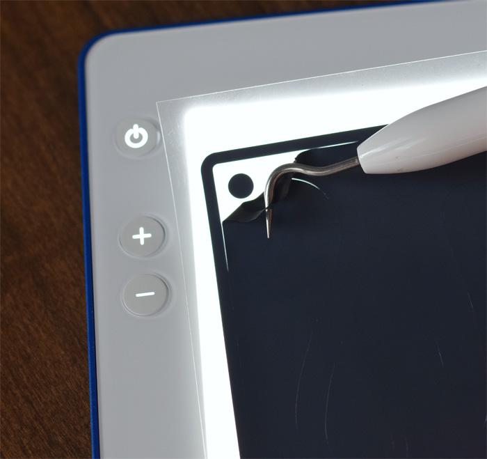 Cricut BrightPad Go in use